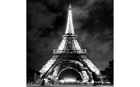 Eiffel Tower at Night, Paris, France, 2010