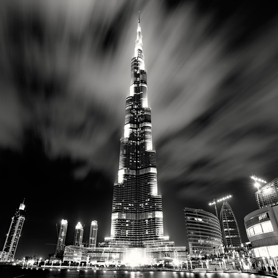 Burj Khalifa at Night, Study 1, Dubai, UAE, 2010