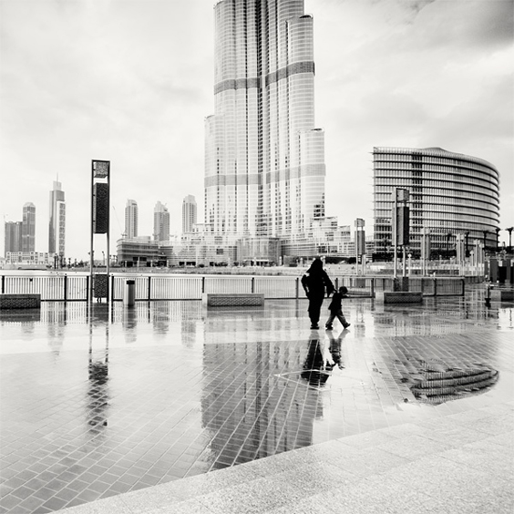 Reflection of the Burj Khalifa, Dubai, UAE, 2010